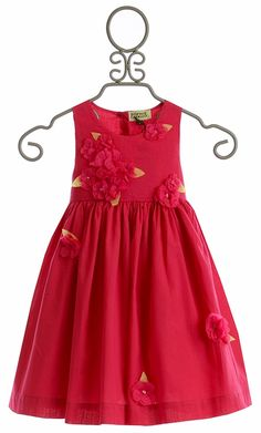 fbf46d8b Sophie Catalou Fancy Girls Dress with Raspberry Red Flowers Girls Fancy  Dresses, Girls Special Occasion