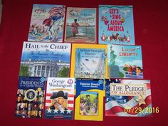10 Teacher Resource Patriotic Picture Books~USA~Presidents~Homeschool~Ages 4-8