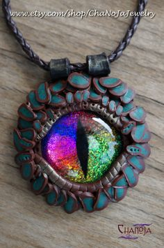 Inspiration - Dragon Eye Pendant polymer clay jewelry
