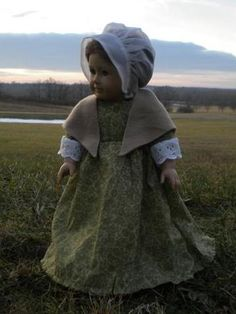 Colonial Winter Outfit/dress for American Girl Felicity or Elizabeth