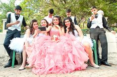 quinceanera photography with chambelanes - Google Search