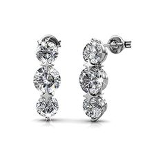 R-timer Stud Earrings 2016 with Swarovski Element Crystal,Silver by R-timer -- Awesome products selected by Anna Churchill