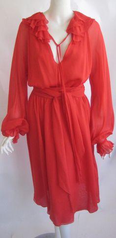 1970s Halston Day Dress