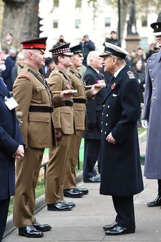 Prince Philip, Duke of Edinburgh attends the Fields of Remembrance at Westminster Abbey with Prince Harry on November 10, 2016 in London, England.
