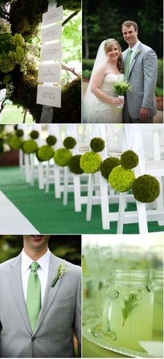 green Wedding aisle flower décor, wedding ceremony flowers, pew flowers, wedding flowers, add pic source on comment and we will update it. www.myfloweraffair.com can create this beautiful wedding flower look.