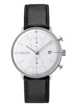 Junghans   Max Bill Chronoscope - Ref. Nr. 027/4600.00 - Als einer der außergewöhnlichsten Designer des letzten Jahrhunderts hinterließ der Architekt, Bildhauer und Produktgestalter Max Bill ein umfangreiches Lebenswerk, darunter eine der faszinierendsten Uhrenkollektionen der letzten Jahrzehnte.
