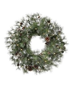 Look at this #zulilyfind! LED Winter Bristle Wreath by Regency International #zulilyfinds