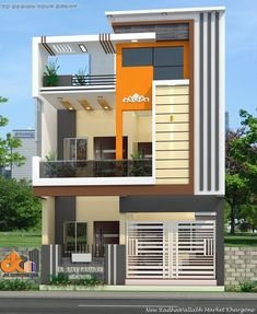 The exterior is the face of the house that everyone will see in the first part. Take a look at the world's most beautiful modern homes and find Indian House Exterior Design, House Main Gates Design, 2 Storey House Design, Modern Exterior House Designs, Bungalow House Design, House Outer Design, Single Floor House Design, House Outside Design, Unique House Design