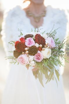 Snow White & Rose Red; A Grimm Brothers Inspired  Shoot  Photo By candace berry photography www.candaceberry.com Flowers by Chelsea Lee Flowers www.chelsealeeflowers.ca