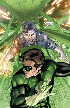 Rafa Sandoval Hal Jordan and the Green Lantern Corps #28 Hal Jordan and Martin Jordan