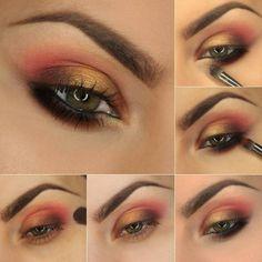 Aventúrate a maquillar la parte inferior de tu ojo con esta técnica. | 15 Tutoriales de sombras para todas las amantes del maquillaje