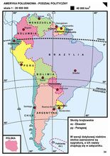 34. Ameryka Południowa – podział polityczny