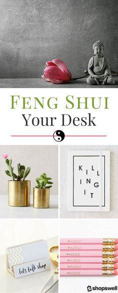 Ready to tap into positive energy and send out some good vibes (promotion, anyone?) at work? Click through to learn how to feng shui your desk using these chic office decor products.