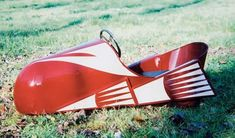 * AUTO FUSEE ~ Pedal Car, c. 1938..  Pretty sporty looking thing, especially for that era!