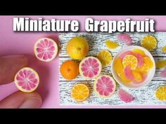 Polymer Clay Grapefruit Cane // Citrus Cane, Miniature Food Tutorial - YouTube