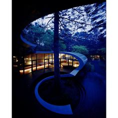 Futuristic Home in Karuizawa, Japan by Artechnic Architects MODERN... ❤ liked on Polyvore featuring asian and backgrounds