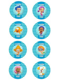Bubble Guppies Pictures to Print | Bubble Guppies Printable Thank You Labels/ by ElleCoutureCreations, $1 ...