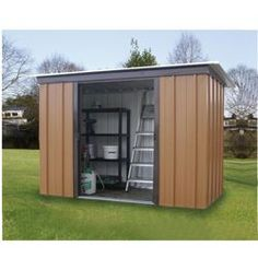 buy yardmaster metal pent shed from our garden sheds range tesco
