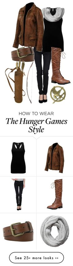 """Katniss Everdeen"" by fiery-phoenix on Polyvore featuring Replay, BKE core, Breckelle's, MANGO, Pieces and MAC Cosmetics"