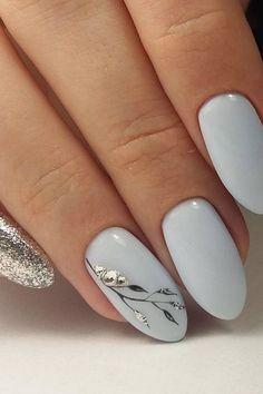 """Source by """" Gray Nail Art Designs""""> 31 Gray Nail Art Designs – Fashion Star. Source by """" Gray Nail Art Designs""""> 31 Gray Nail Art Designs – Fashion Star. Grey Nail Art, Grey Acrylic Nails, Cute Nail Art, Cute Nails, Matte Gray Nails, Black Nails, Pink Nails, Glitter Nails, Bride Nails"""