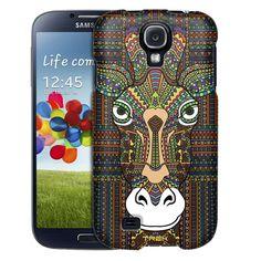 Samsung Galaxy S4 Aztec Giraffe Head Trans Case