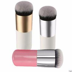 Ronda Pincel de Maquillaje BB Crema Corrector Polvos Base maquillaje Pinceles Sintéticos Fifber Face Cosmetic Blush Brush Maquillaje Herramienta de La Belleza
