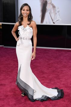 Women's Fashion 2013 Oscars 2013  Zoe Saldana  Dress:Alexis Mabille