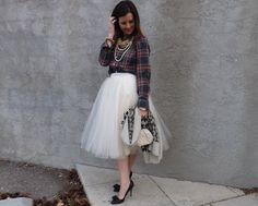 how to wear a tulle skirt. Tulle skirt outfit ideas.