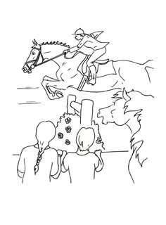 Horse Jumping Coloring Pages