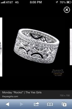 Wedding ring alternative. Perfffect!  With a little bit of our birthstone. Lays flat. Love love love