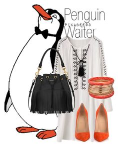 """Penguin Waiter - Disney's Mary Poppins"" by ivvyvarga ❤ liked on Polyvore featuring Christian Louboutin, Yves Saint Laurent and Ashley Stewart"
