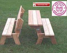 Easy Picnic Table Bench Plans Diy Picnic Table Folding