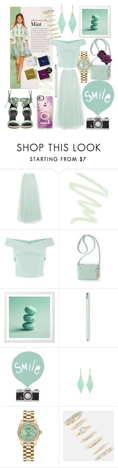 """""""Mint🌱"""" by mandimwpink ❤ liked on Polyvore featuring Coast, Dolce&Gabbana, TIBI, Jamie Wolf, Rolex, Full Tilt, Casetify and mintgreen"""