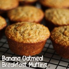 Banana Oatmeal Breakfast Muffins  Made these... they are delish!  Definitely gonna' use this one again:)