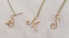 Diy wire alphabet letters/How to make wire initial pendant charms easy way/wire letters B,M,S making - YouTube Letter Pendants, Initial Pendant, Wire Letters, Alphabet Letters, Handmade Jewelry Tutorials, Wire Jewelry, Jewellery, Letter B, Initials