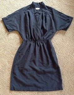 Ann Taylor LOFT Women's Short Sleeve Deep V Dress Sz 2 / C