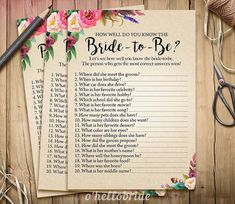 Bohemian Bridal Shower How Well Do You Know the by ohellobride