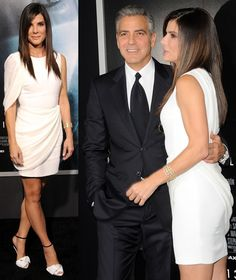 Sandra Bullock Stuns in Giuseppe Zanotti Safety Pin Pumps - love her and this look