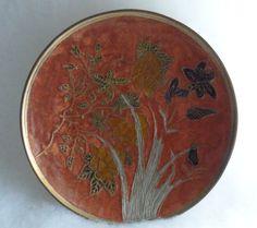 Vintage 1950s / BRASS CLOISONNE Small Decorative by BYGONERA, $25.00
