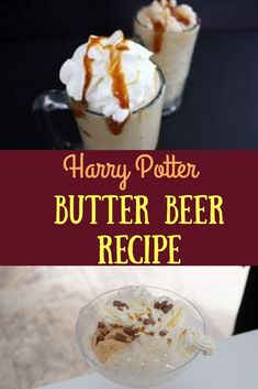Harry Potter Party Ideas! Easy butter beer recipe for kids to make. Harry Potter Party Ideas! Great ideas for a wizarding Harry Potter party! Harry Potter Decorations. Harry Potter Party Food and Harry Potter slime! #slimerecipe #harrypotter #harrypotterparty #birthdaypartyideas