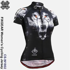 71731a1be Fixgear Women s Wolf Printed Cycling jersey Short sleeve S~XXL