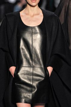 Black minimalism by Michael Kors.