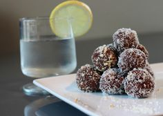 Chocolate Coconut Breakfast Truffles  1 cup raw cashews  2 cups pitted dates  1 cup unsweetened dried coconut  2 Tbs cocoa powder  2 tsp vanilla