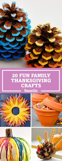 Put together these cute and easy crafts with the entire family this Thanksgiving. There's no better way to celebrate being thankful than by making these adorable crafts with your kids before Thanksgiving dinner. Wake up early for the Macy's Thanksgiving Day parade and make a beautiful corn husk wreath for the door. These crafts will not only be fun for the family, but also will decorate your house for the holiday and fall season!