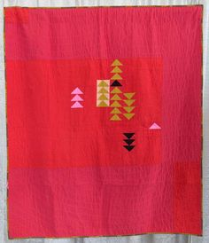red hot by Shawna Doering, 2015 | The Modern Quilt Guild