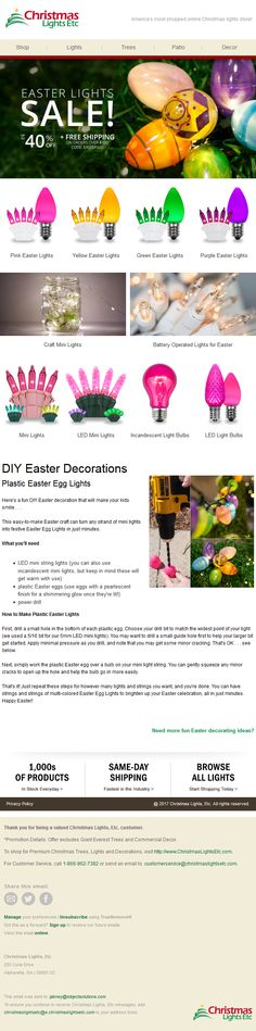 Christmas Lights Etc, Plastic Easter Eggs, Diy Easter Decorations, How To Find Out, Design