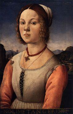 Agnolo di Domenico del Mazziere c. 1490 Portrait of a Young Woman