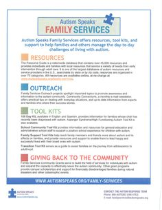 how to support families with autism