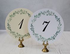 Wedding Table Numbers Cards Round Wedding Table Numbers