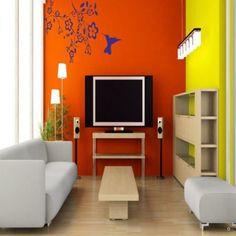 DeStudio Humming Bird Feeder Wall Decal Blue,Wall Decals & Stickers